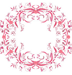 floral swirl frame for your design vector image