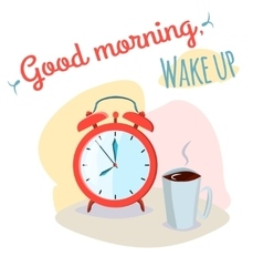 Good morning wake up vector image