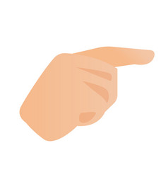 human hand with index finger pointing to the side vector image