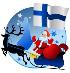 Merry Christmas Finland vector image vector image