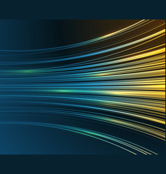 speed motion blue light curves abstract tech vector image vector image