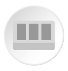 Concrete brick icon flat style vector