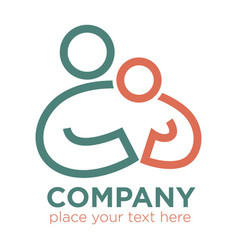 mother and child care and care social company vector image