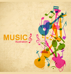 music abstract concept vector image vector image
