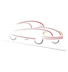 Racing car on road vector