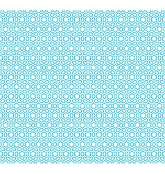 Six rays hex linear stars seamless pattern blue vector image vector image