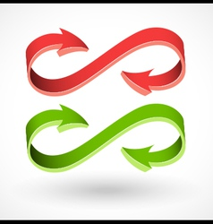 3d style arrow abstract signs vector image vector image