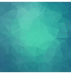 Abstract teal geometric triangle background vector image vector image