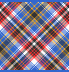 blue check plaid tartan seamless pattern vector image vector image