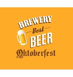 Brewery and beer banner vector