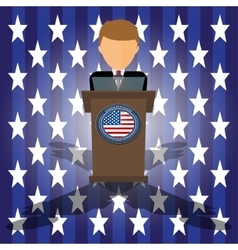 Cartoon of election race in vector image vector image