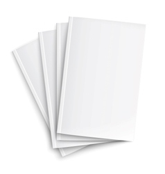 Stack of blank magazines template vector image vector image