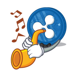 With trumpet ripple coin character cartoon vector