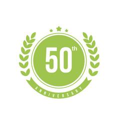 50th anniversary template design vector