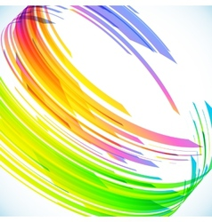 Abstract rainbow cylinder background vector