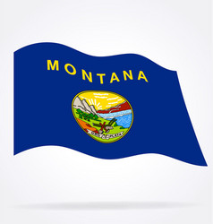 accurate correct montana mt state flag waving vector image