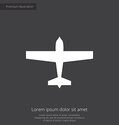 Airplane premium icon vector