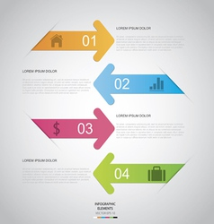 Arrow Infographic vector image