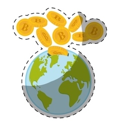 Bitcoin currency design vector