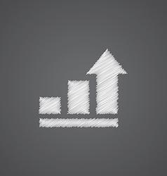 business diagram chart sketch logo doodle icon vector image