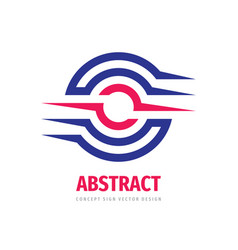 business logo design abstract shapes cooperation vector image