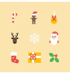 Christmas icons collection Set of new year vector image