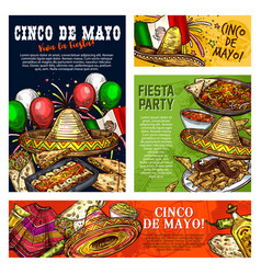 cinco de mayo mexican fiesta party celebration vector image