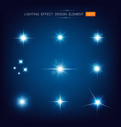 collection lighting effect design element 002 vector image