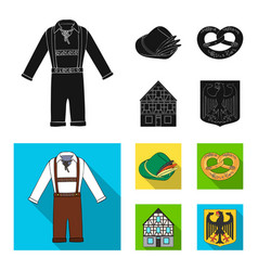 country germany black flat icons in set vector image