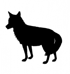 Coyote silhouette vector