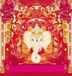 Creative of Hindu Lord Ganesha vector
