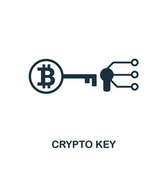 crypto key icon creative element design from vector image