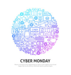 cyber monday circle concept vector image