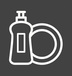 Dishwashing soap vector