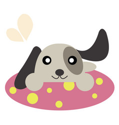 Dog on a carpet vector