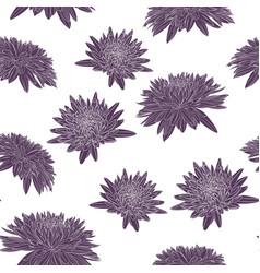 elegant seamless pattern with chrysanthemum vector image