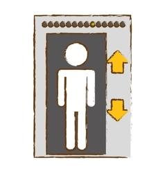 Elevator icon image vector
