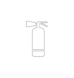fire extinguisher flat icon vector image