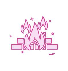 fireicon design vector image
