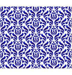 floral porcelain damask pattern vector image