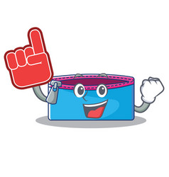 foam finger pencil case character cartoon vector image
