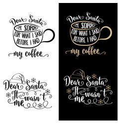 Funny christmas quotes collection vector