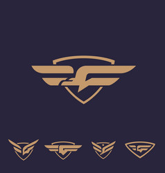 g bird logo set letter based bird theme vector image