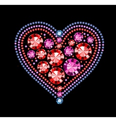 Gem Heart vector