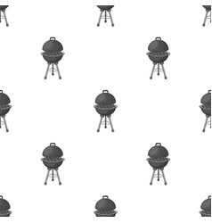 grill for barbecuebbq single icon in monochrome vector image