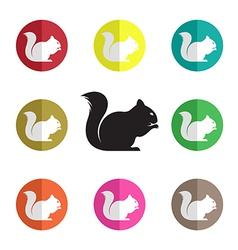 Group squirrel vector