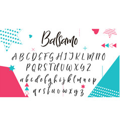 hand drawn letters lettering and custom vector image