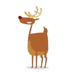 Happy cartoon Christmas Reindeer vector image
