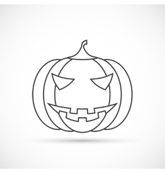 Helloween pumpkin outline icon vector image