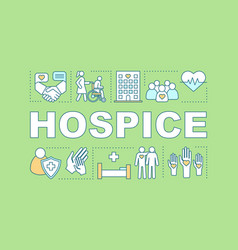 hospice word concepts banner vector image